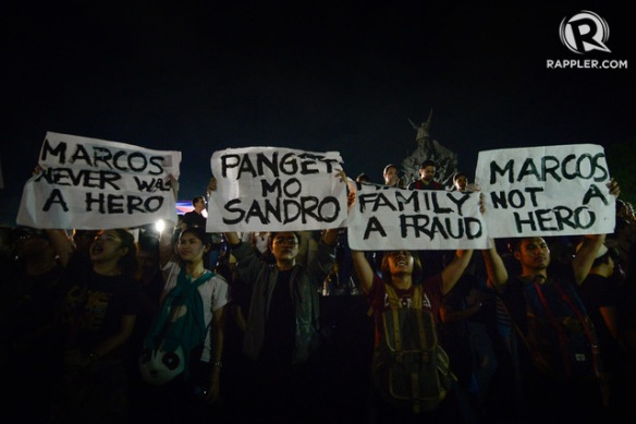 Marcos Burial Protests
